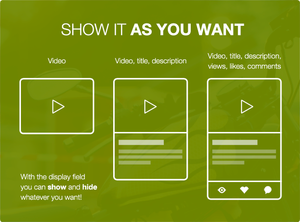 - show it as you want - Tubelab – YouTube plugin for WordPress